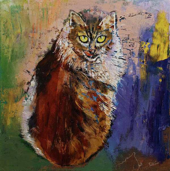 3d Painting - Siberian Cat by Michael Creese
