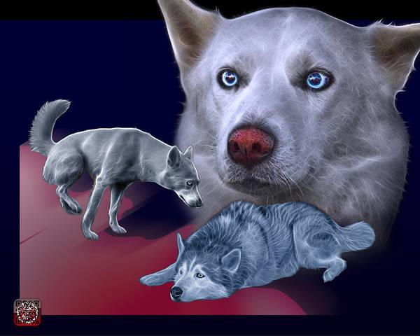 Painting - Siberian Husky - Modern Dog Art - 0002 by James Ahn