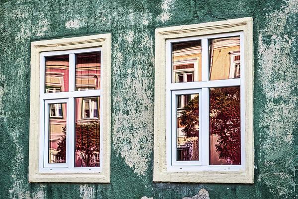 Photograph - Sibiu Window Reflections - Romania by Stuart Litoff