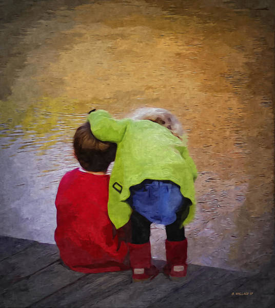 Wall Art - Digital Art - Sibling Love by Brian Wallace