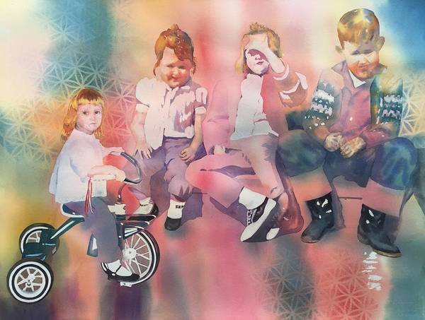 Painting - Siblings And Cousins, Circa 1950-1963 by Tara Moorman