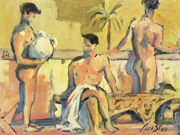 Wall Art - Painting - Sicilian Boys by Nop Briex