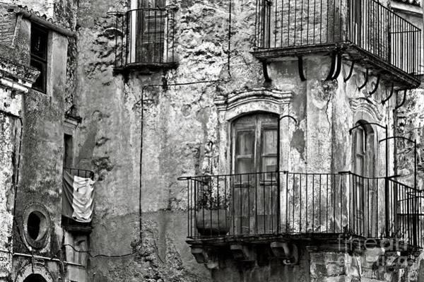 Photograph - Sicilian Medieval Facade by Silva Wischeropp