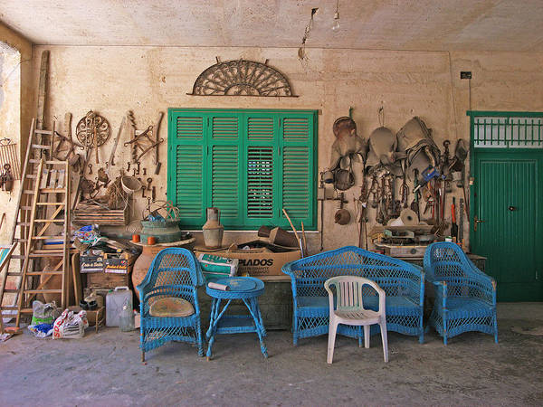 Toolshed Wall Art - Photograph - Sicilian Toolshed by David Wenman