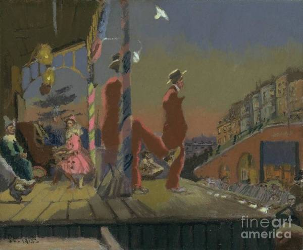 Brighton Painting - Sickert Brighton Pierrots  by MotionAge Designs