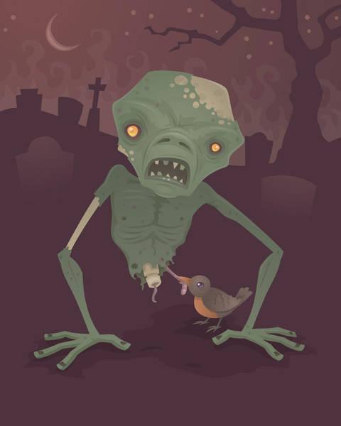 Rotting Wall Art - Digital Art - Sickly Zombie by John Schwegel