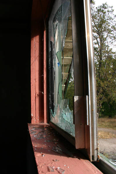 Photograph - Side Cracked Window by Marie Neder