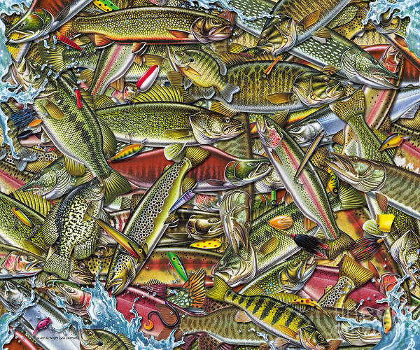 Painting - Side Fish Collage by JQ Licensing