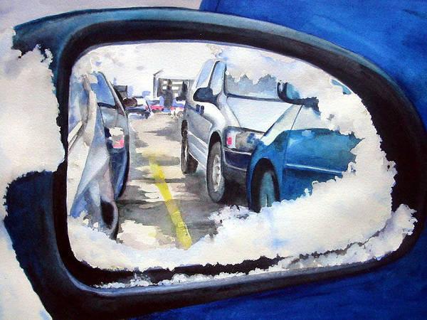 Wall Art - Painting - Side Mirror by Leyla Munteanu