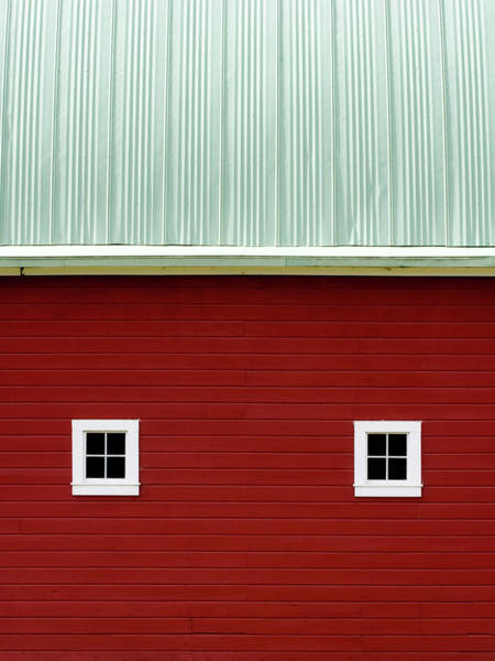 Big Red Photograph - Side Of A Big Red Barn In The Palouse by Carol Leigh