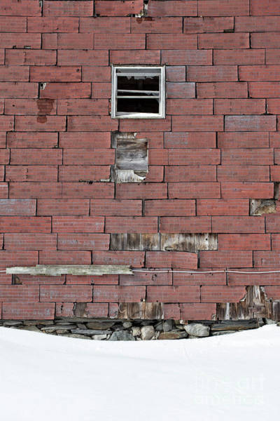 New England Barn Photograph - Side Of An Abandoned Old Barn by Edward Fielding