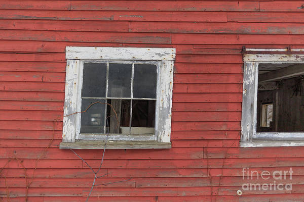 Wood Siding Wall Art - Photograph - Side Of An Old Red Barn Quechee, Vermont by Edward Fielding