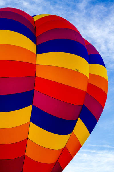 Photograph - Side Of Hot Air Balloon by Teri Virbickis