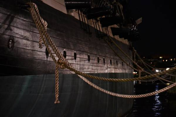 Photograph - Side Of The Uss Constellation Navy Ship In Baltimore Harbor by Marianna Mills