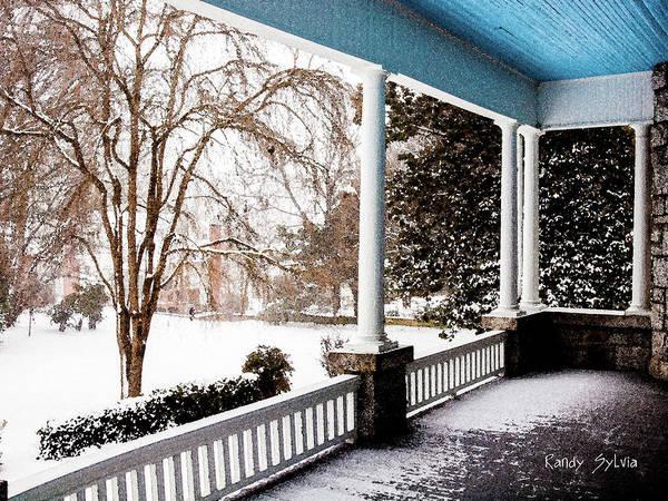 Photograph - Side Porch by Randy Sylvia