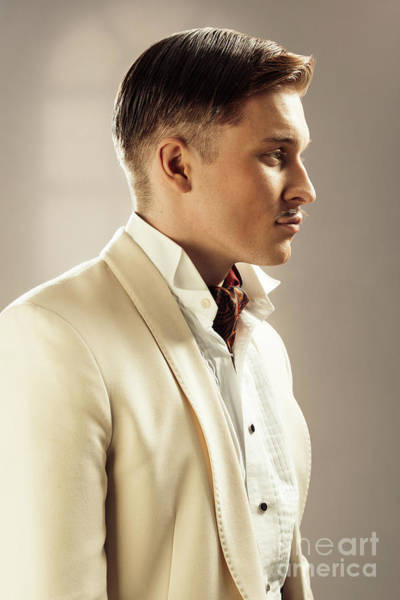 Cosplay Photograph - Side Profile Of Character Playing Errol Flynn by Amanda Elwell