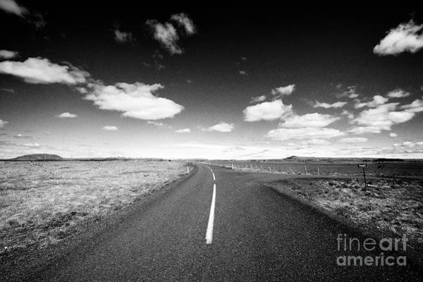 Wall Art - Photograph - side road off to homestead from the ring road hringvegur Iceland by Joe Fox