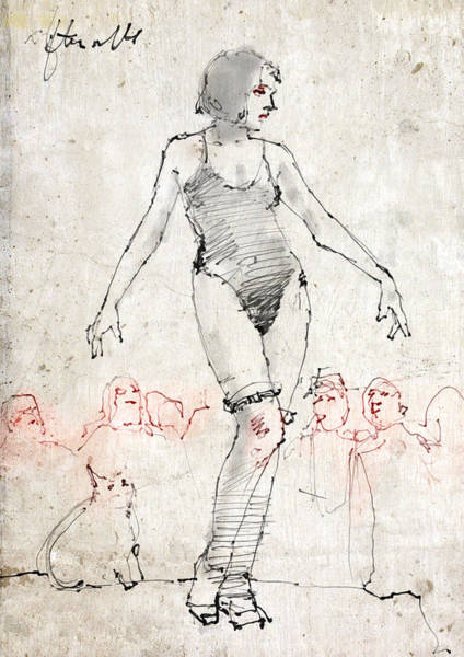 Egypt Drawing - Side Show by H James Hoff
