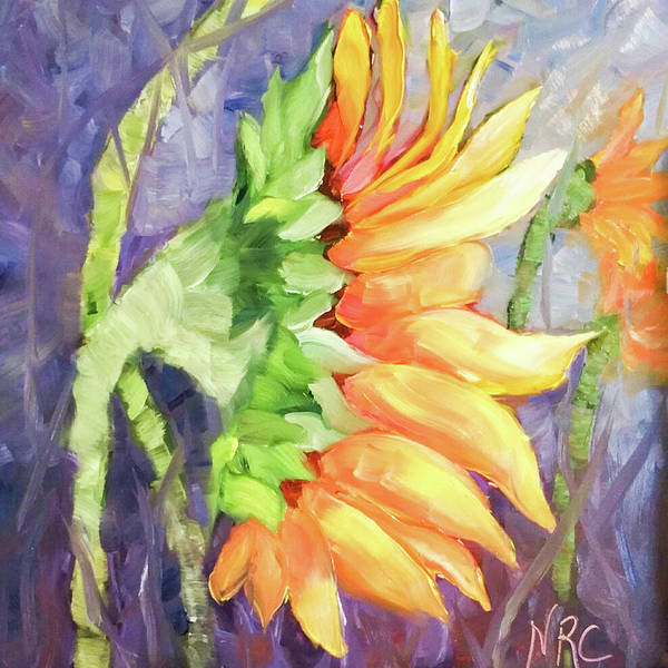 Photograph - Side Sunflower Painting by Natalie Rotman Cote