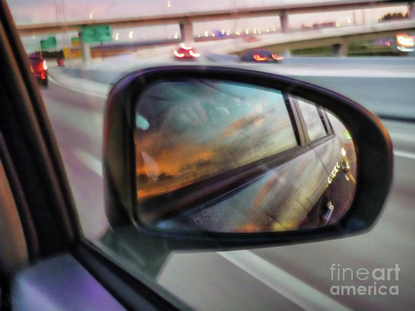 Photograph - Side View Mirror by Jeff Breiman