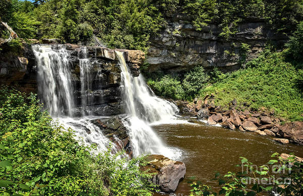 Photograph - Side View Of Blackwater Falls 2457c  by Cynthia Staley