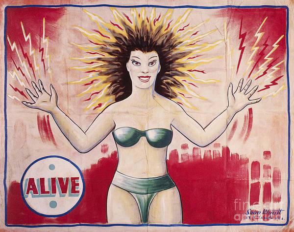 Wall Art - Photograph - Sideshow Poster, C1965 by Granger