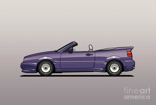 Wall Art - Digital Art - Sideview Of An Vw Corrado Convertible Conversion By German Aftermarket And Tuning Specialist Zender  by Monkey Crisis On Mars