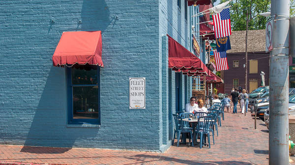 Sidewalk Cafe Annapolis Art Print