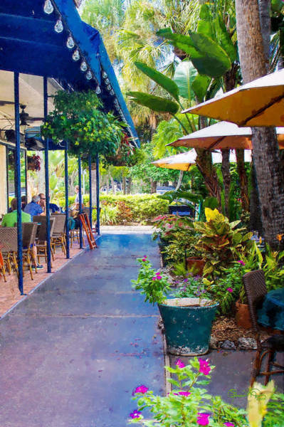 Photograph - Sidewalk Cafe At St Armands by Susan Molnar