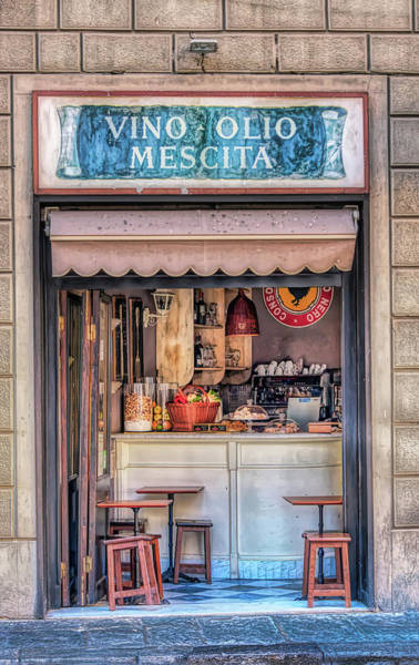 Photograph - Sidewalk Cafe In Florence Italy by Gary Slawsky