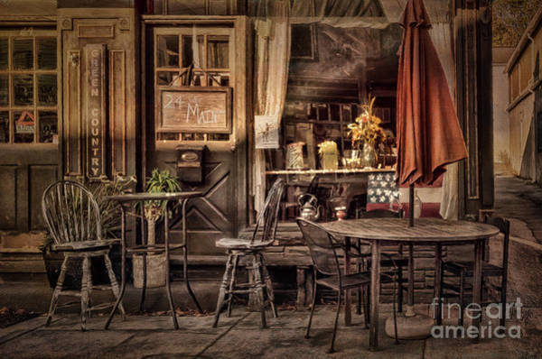 Metal Furniture Photograph - Sidewalk Cafe by Lois Bryan