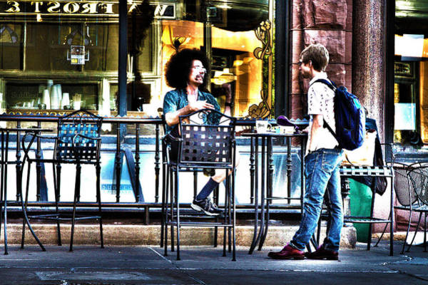 Photograph - 048 - Sidewalk Cafe by David Ralph Johnson