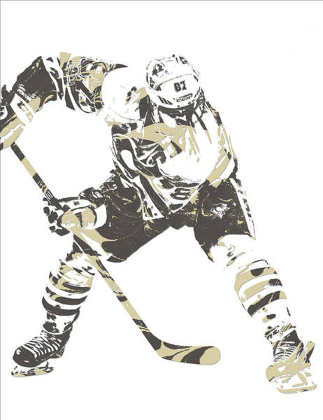 Wall Art - Mixed Media - Sidney Crosby Pittsburgh Penguins Pixel Art 10 by Joe Hamilton
