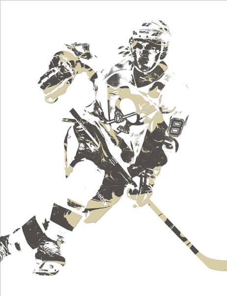 Wall Art - Mixed Media - Sidney Crosby Pittsburgh Penguins Pixel Art 11 by Joe Hamilton