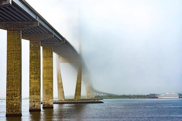 Photograph - Sidney Lanier Bridge Under Fog by Chris Bordeleau