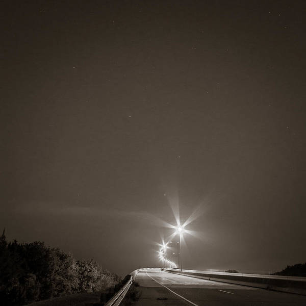 Photograph - Sidney Lanier Bridge Under The Stars by Chris Bordeleau