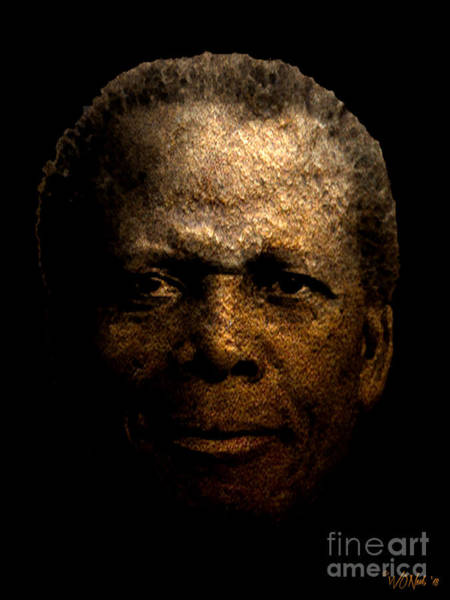 Digital Art - Sidney Poitier by Walter Neal