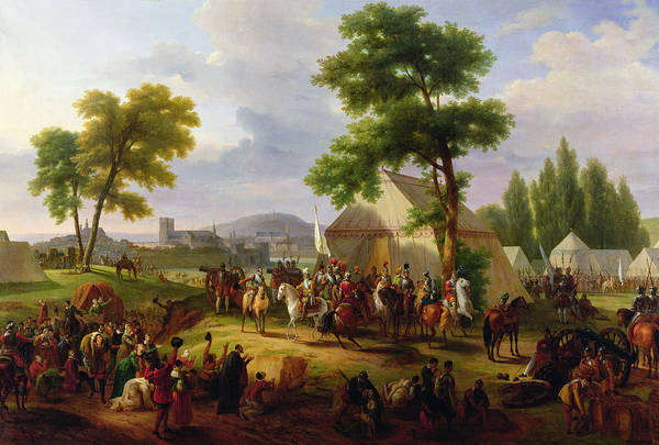 Encampment Wall Art - Painting - Siege Of Paris By Henri Iv by Guillaume Frederic Ronmy