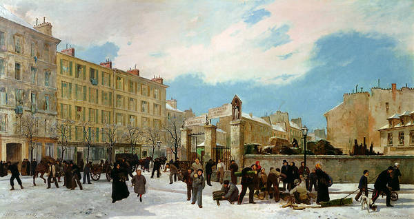 1871 Painting - Siege Of Paris by Jacques Guiaud
