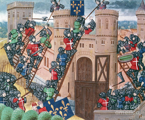 Scaling Photograph - Siege Of Pontaudemer, Illustration by Science Photo Library