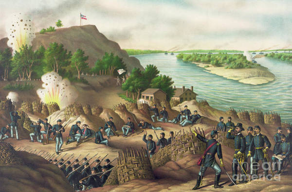 Wounded Soldier Painting - Siege Of Vicksburg by American School