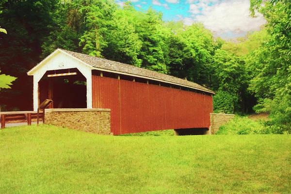 Digital Art - Siegrist's Mill Covered Bridge by Rusty R Smith