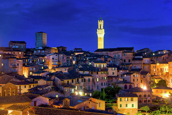 Photograph - Siena At Night by Fabrizio Troiani