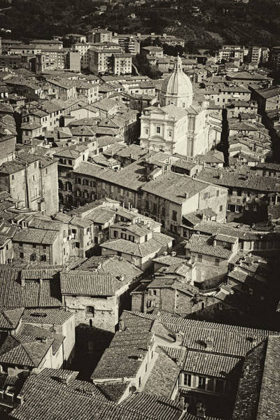 Photograph - Siena From Above Antiqued by Cliff Wassmann
