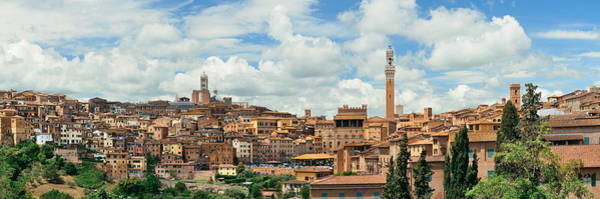 Photograph - Siena Panorama by Songquan Deng