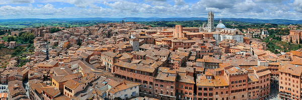 Photograph - Siena Rooftop View by Songquan Deng