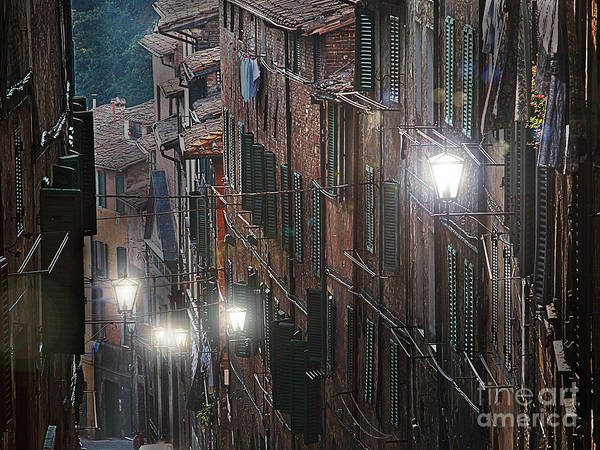 Wall Art - Photograph - Siena Street Lamps by Jim Wright
