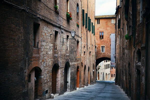 Photograph - Siena Street View by Songquan Deng
