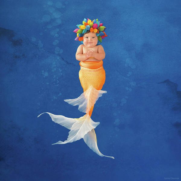 Nursery Photograph - Sienna As A Mermaid by Anne Geddes