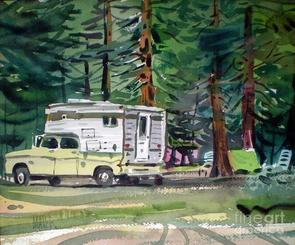 Campsite Wall Art - Painting - Sierra Campsite by Donald Maier